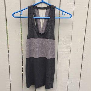 Lululemon Black/Grey cutout workout tank size 6